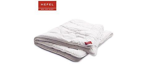 Eine moderne Wollbettdecke von Hefel