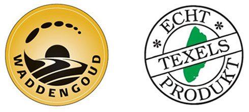 Die Siegel Waddengoud und Echt Texels Produkt