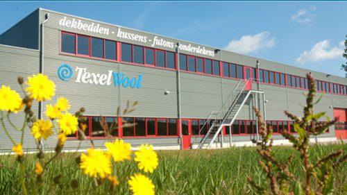 Außenansicht des Fabrikgebäudes von Texeler & TexelWool